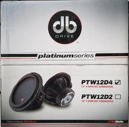 woofer db drive ptw12d4 12  platinium series doble bobina