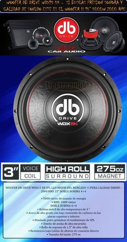 woofer db drive wdx 15  5000w 2000 rms 4+4 para spl moustro
