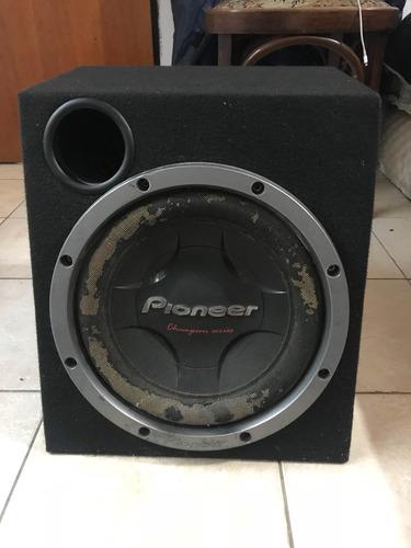 woofer pioneer 1400 w 12 doble b + cajon acustico
