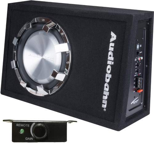 woofer plano con fuente audiobahn abs10amp