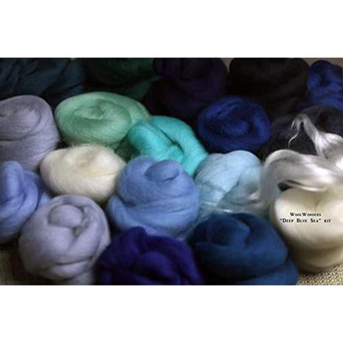 woolwonders  deep blue sea  fieltro lana