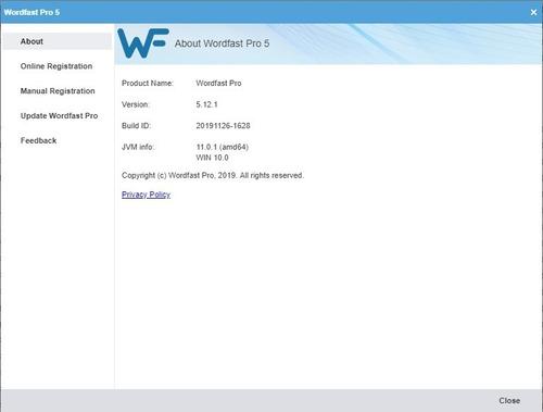 wordfast 5.12.1