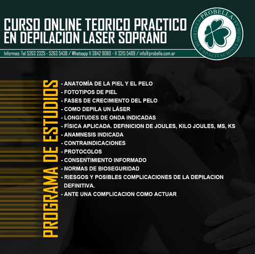 workshop teórico práctico depilación con láser soprano 4/10