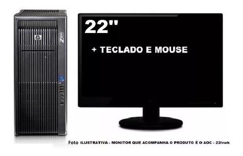 workstation hp z800 2 xeon six core 32gb 240gb ssd + 1tb