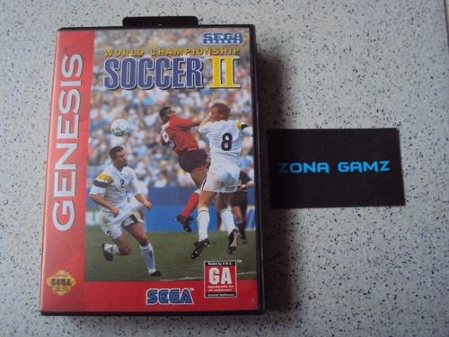 world championship soccer 2 sega genesis zonagamz