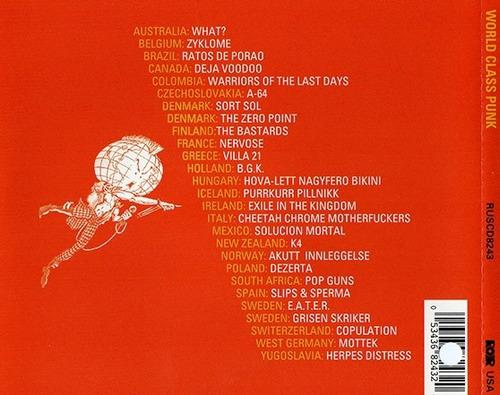world class punk cd  27 bandas, 25 paises  importado - punk