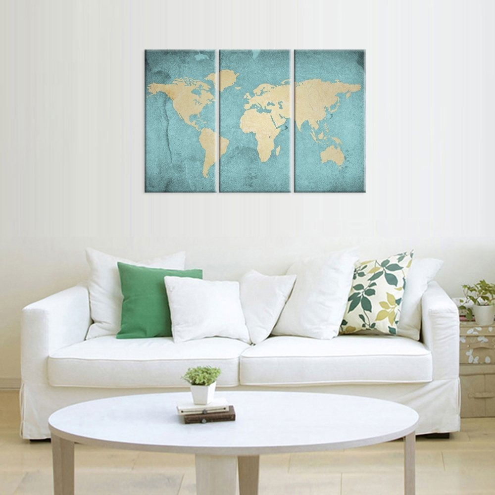 World map canvas artvintage style map poster printed on ca world map canvas artvintage style map poster printed on ca cargando zoom gumiabroncs Image collections