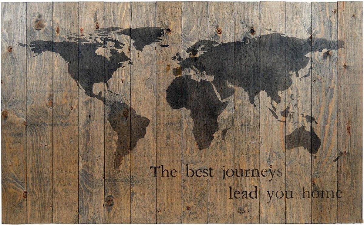 World map rustic barn wood pallet sign los hogar 163055 en cargando zoom gumiabroncs Gallery