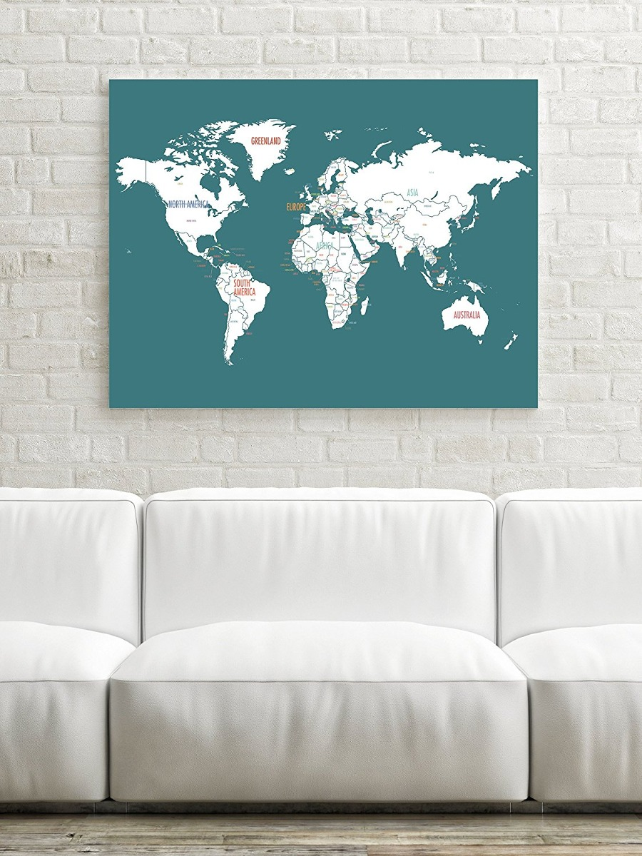 World map wall art travel map world map print wall art f travel map world map print wall art f cargando zoom gumiabroncs Images