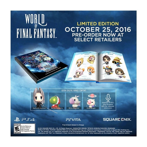 world of final fantasy (limited edition) ps4 nuevo
