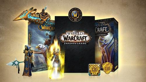 world of warcraft complete, bfa, shadowlands, tiempo de jueg
