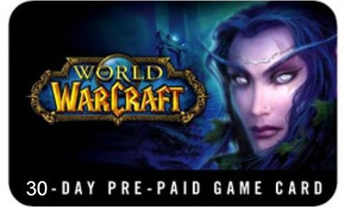 world of warcraft tarjeta pre pago 60 dias us