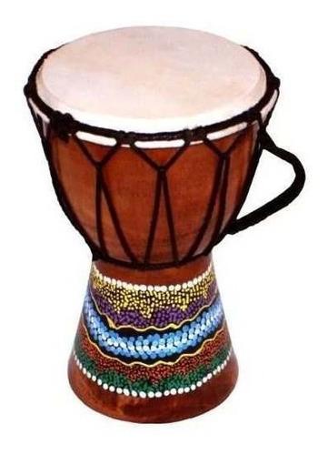 world playground tambor de djembe de 15 cm con diseño