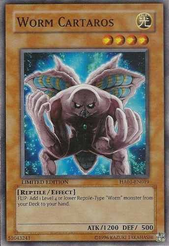 worm cartaros,super hidden arsenal,yugioh
