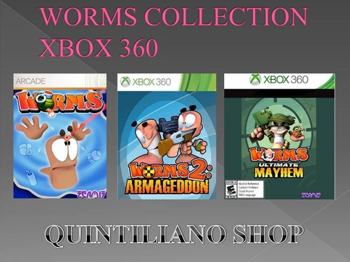 worms collection xbox 360 midia digital