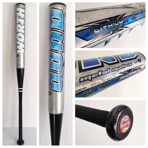 worth quad 34x25 matrix advanced metallics  softbol bat