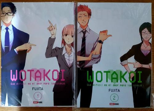 wotakoi - tomo 1 y 2 - panini manga - fujita