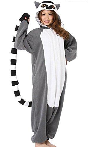 wotogold animal cosplay costume lemur unisex adulto pijamas