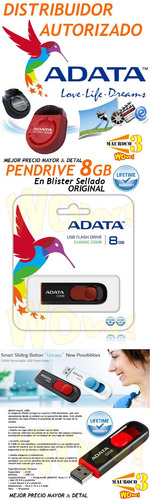wow pendrive usb 8gb adata c008 sellado blister original wow