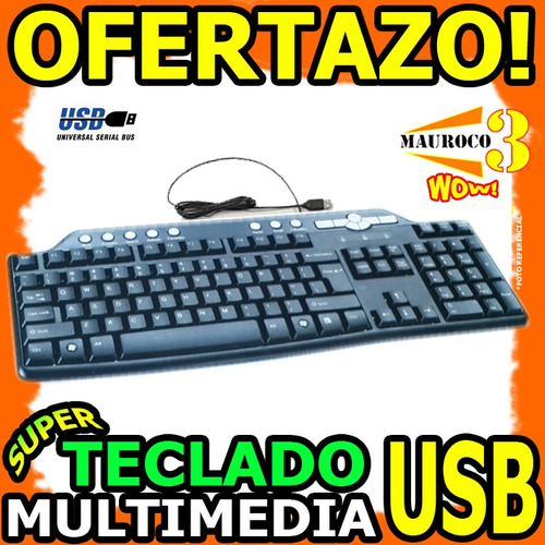 wow teclado multimedia usb acceso directo musica internet