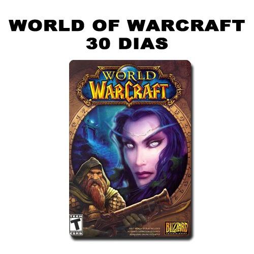 wow tiempo de juego para wolrd of warcraft- america. 1 mes