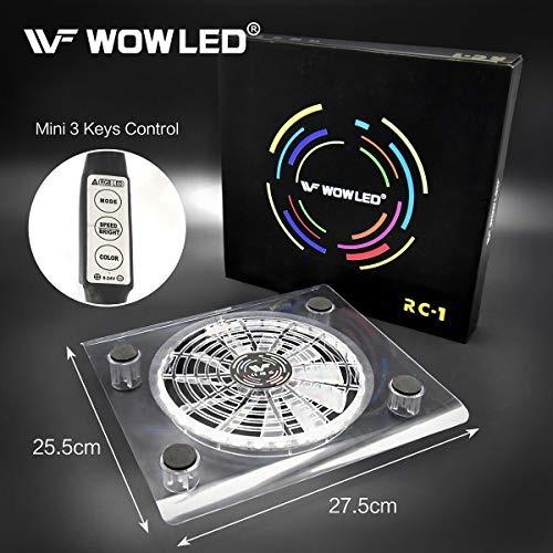 wowled enfriamiento mini ventilador 3 teclas de control del