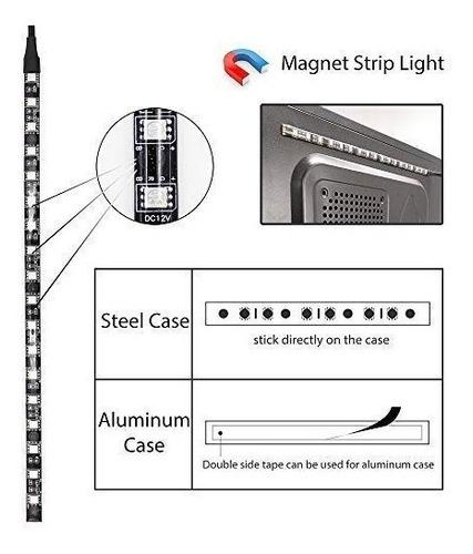wowled pc rgb gaming led strip lights mid tower case lightin