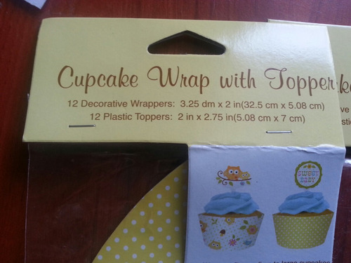 wrap y topper para cupcake ponquesitos de búho