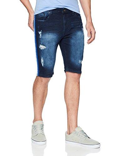 d4ae63235258 Wt02 Pantalones Cortos Vaqueros Elasticos Para Hombre Con Ro