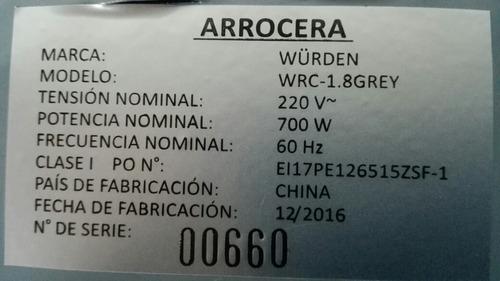 wurden olla arrocera wrc-1.8grey 1,8 lt   +