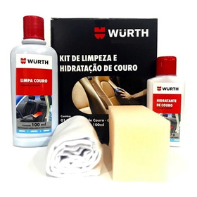 Wurth Kit Limpeza E Hidratação De Couro Limpa E Hidrata