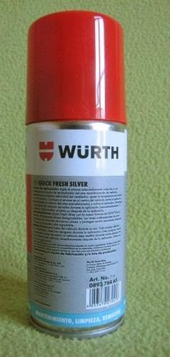 wurth spray desinfectante para autos a base iones de plata