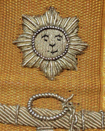 ww i uruguay navy chief embroidery golden thread epaulettes
