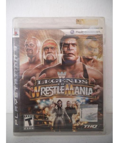 wwe legends of wrestle mania lucha libre playstation ps3
