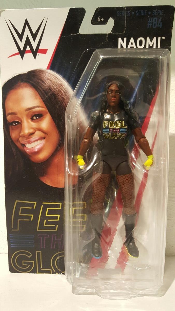 Mattel-WWE Wrestling-Basic Series 84 figura-Naomi-Nuevo