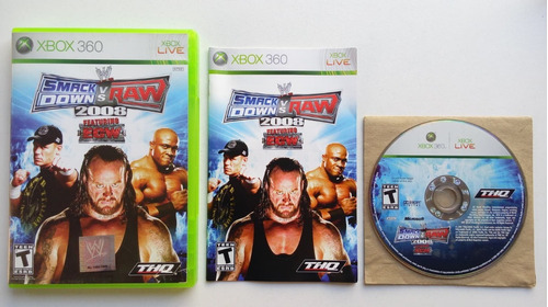 wwe smackdown vs raw 2008 xbox 360 garantizado!!