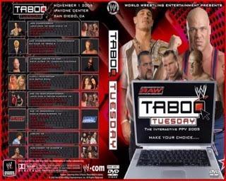 wwe taboo tuesday 2005 dvd inglés-español