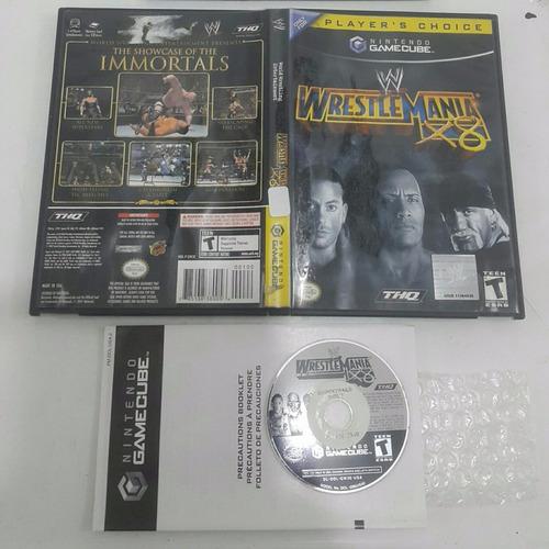 wwe wrestlemania x8 - lucha libre / gamecube & wii