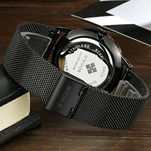 wwoor reloj de cuarzo analógico cuadrado
