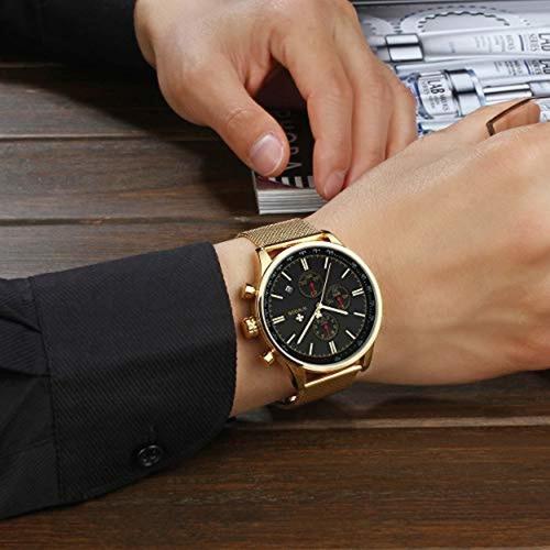 wwoor reloj de los hombres del deportes cronógrafo