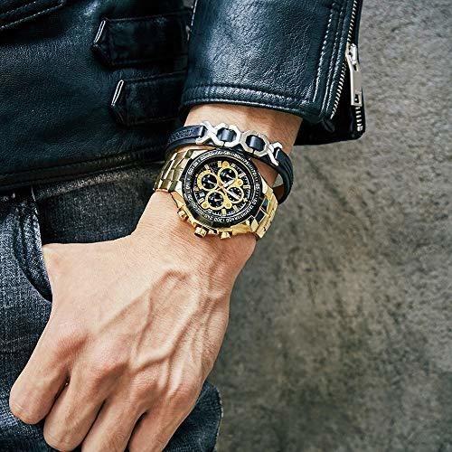 wwoor reloj para hombre 4-en-1 funcion de reloj luminoso,