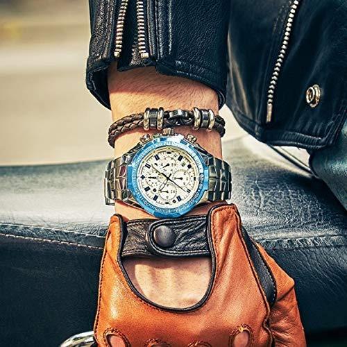 wwoor reloj para hombre reloj con funcion 4en1 original y lu