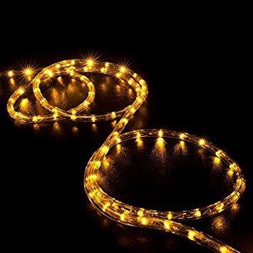 Wyzworks 150 feet orange amber led rope lights flexible wyzworks 150 feet orange amber led rope lights flexible aloadofball Choice Image