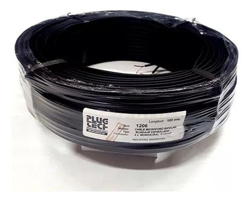 x 1 metro cable bipolar mallado 3mm tipo cable rca av audio