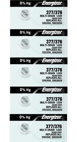 x 5 pilas energizer 377 sr626sw oxi plata centro san martin