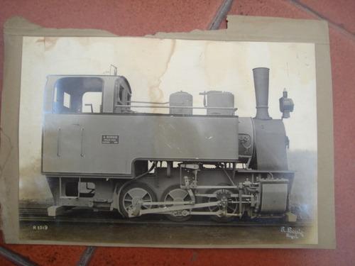 x - antigua foto de locomotora - a-borsig - tegel nº2