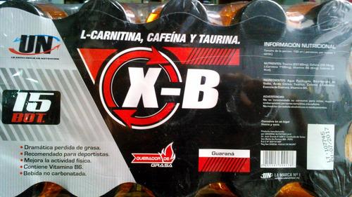 x-b un 2250ml termogénico l-carnitina taurina pack15b.x150ml