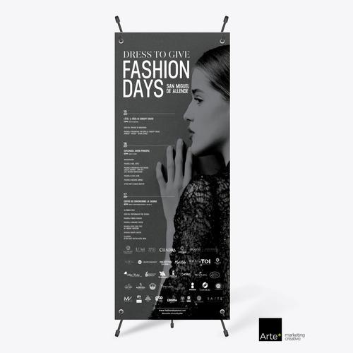 x banner display publicitario para lona de 80 x 180 aluminio