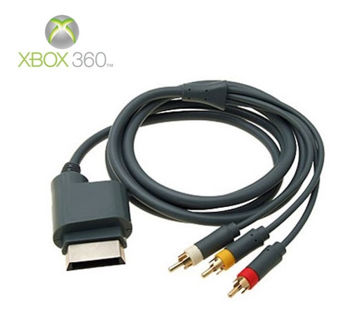 x box 360 audio y video cable (coheto)