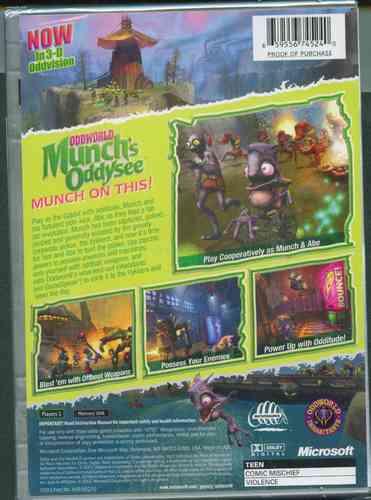 x box oddworld munchs   nuevo envio gratis